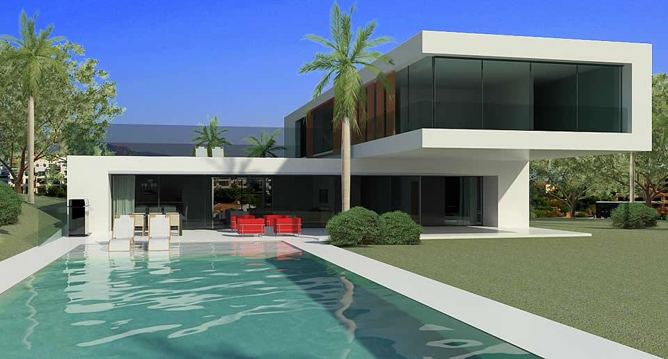 Modern design homes for sale in marbella club golf for Modern home plans for sale