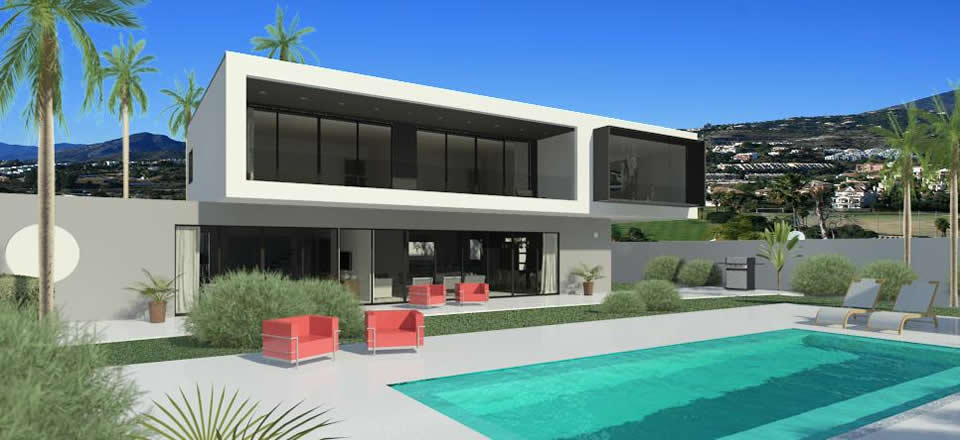 Modern design homes for sale in marbella club golf for Villa ultra moderne