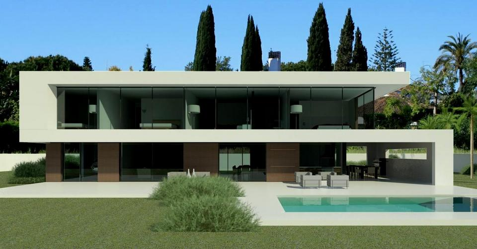 Modern design homes for sale in marbella club golf for Modern minimalist villa