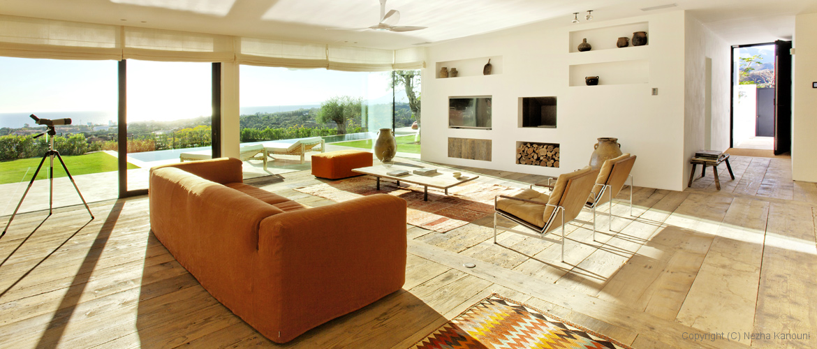 ibiza-style interior design in Marbella