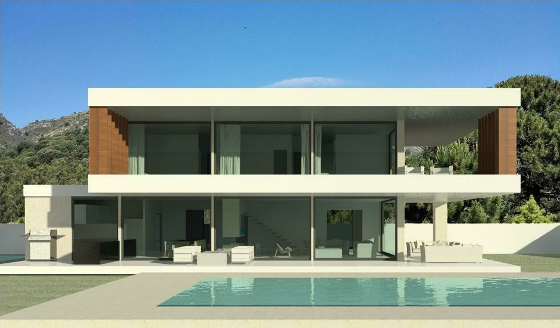Modern turnkey villas in spain france portugal for New villa design