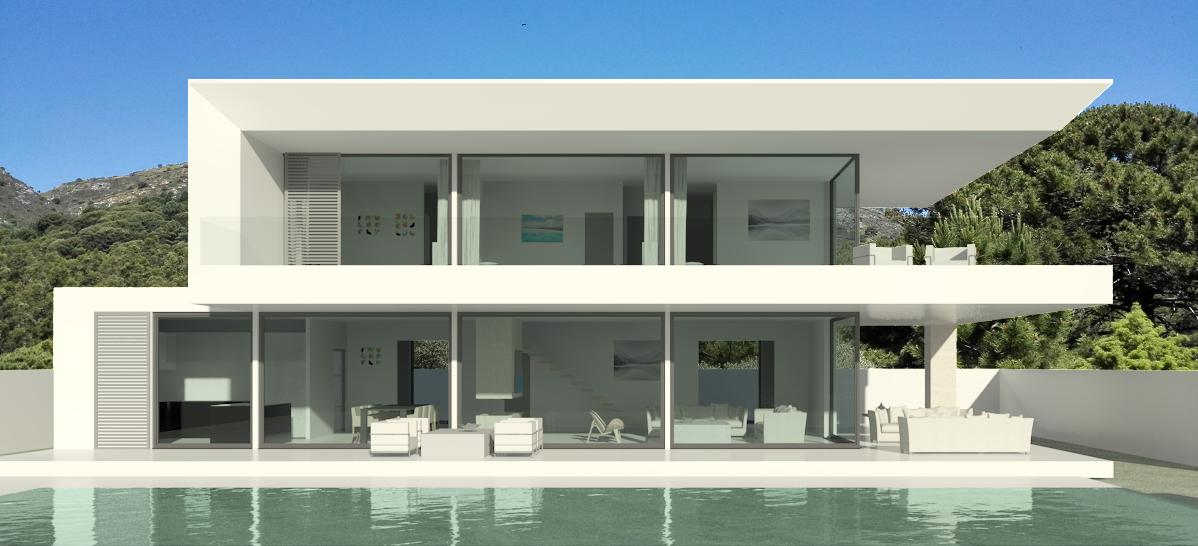 Modern turnkey villas in spain france portugal for House design minimalist modern 1 floor