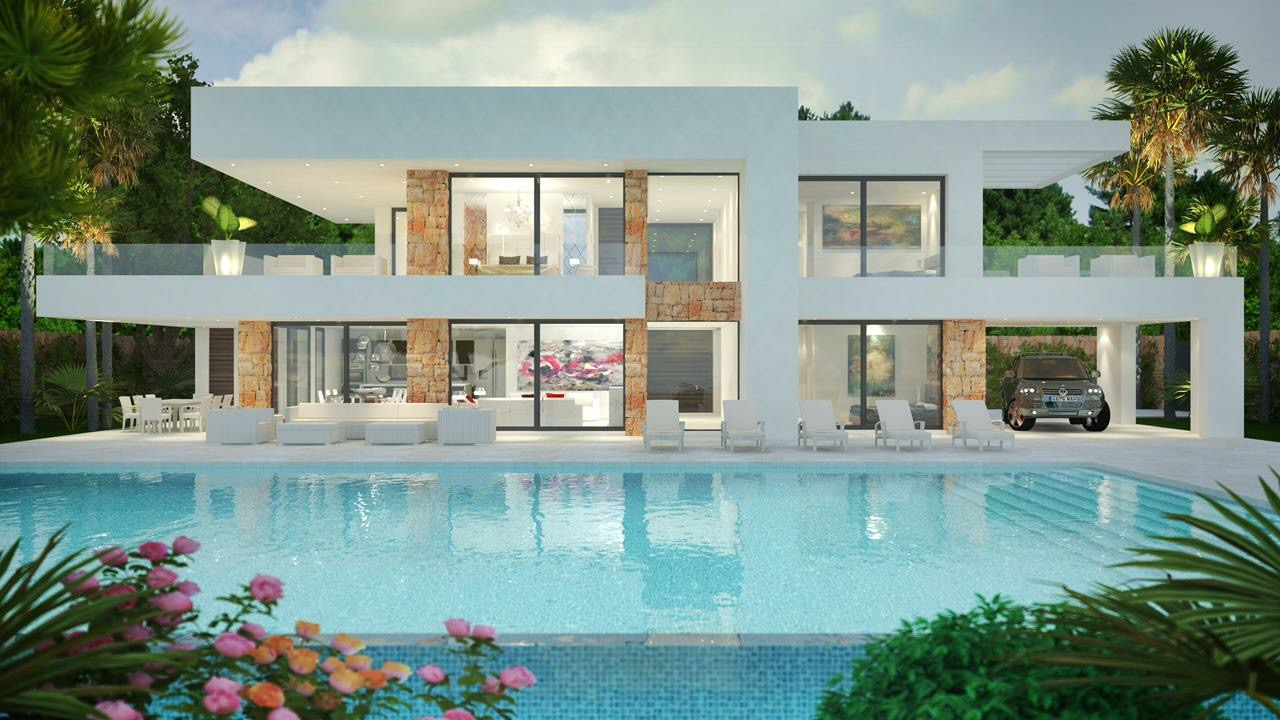 Modern villas for sale luxury contemporary villas and for Small luxury homes for sale